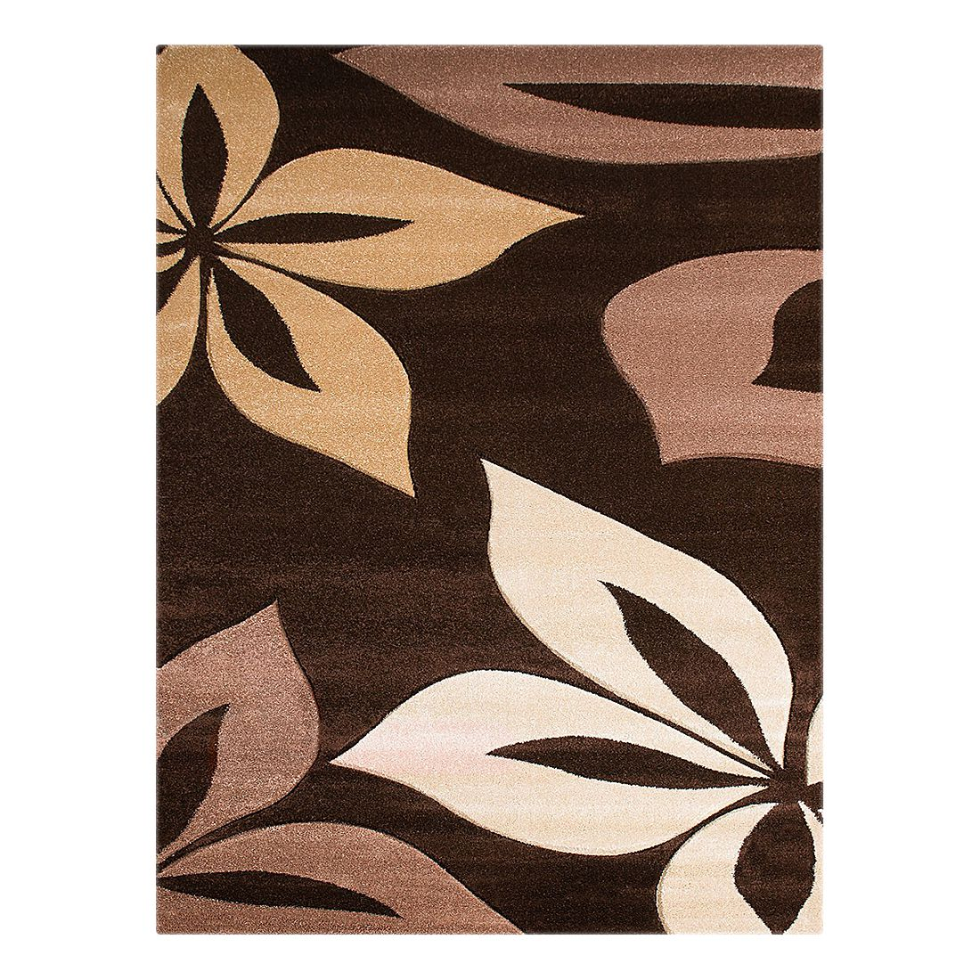 Teppich Nea Blumen – Schoko – 80 x 150 cm, Testil günstig kaufen