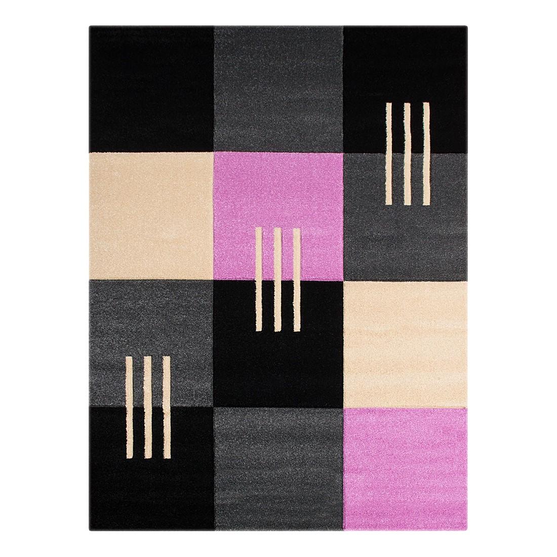 Teppich Nea Karomuster – Grau – 60 x 110 cm, Testil günstig
