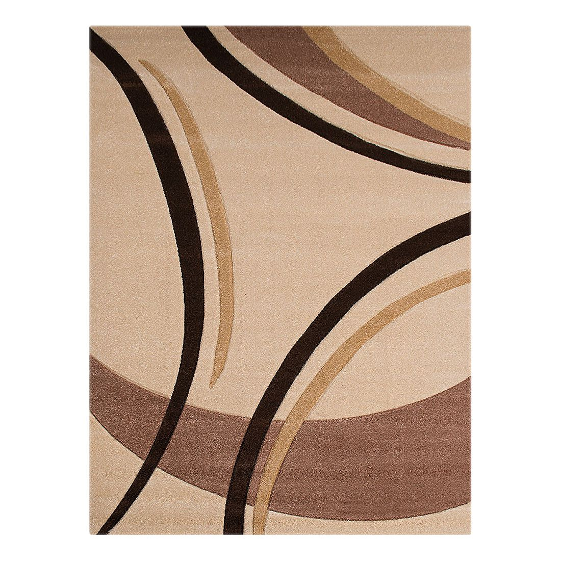 Teppich Nea Linien I – Creme – 120 x 170 cm, Testil bestellen