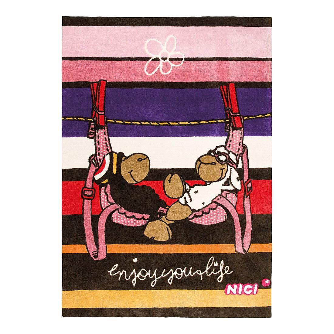 Teppich Jolly Bob & Lovely - Braun/Rosa, Nici