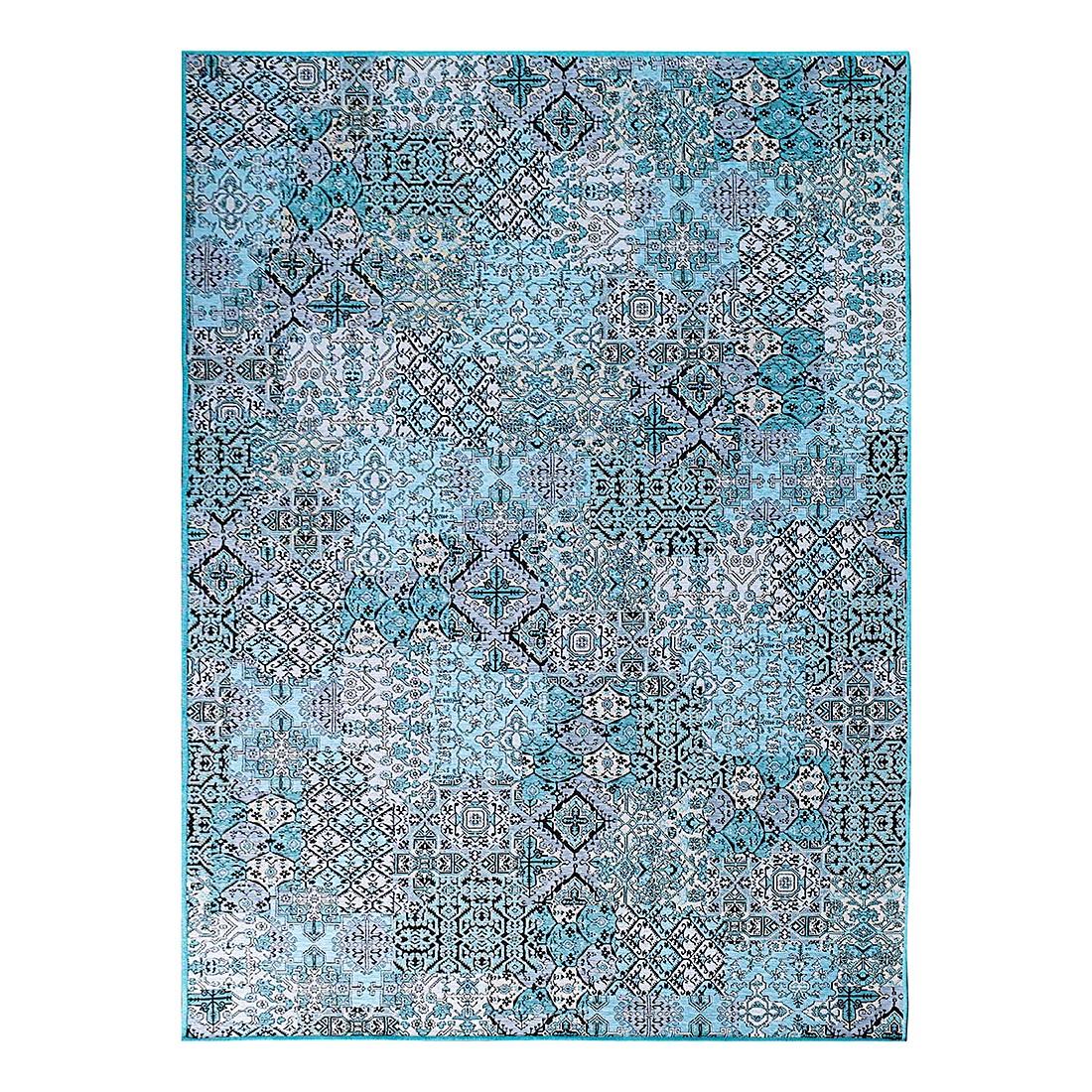 Teppich Ornamente – Blau – 140 x 200 cm, Schöngeist & Petersen günstig online kaufen
