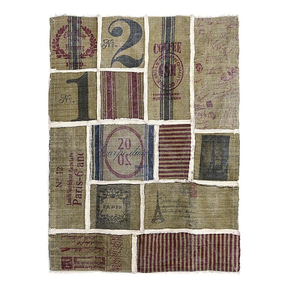 Teppich Patches – Baumwolle – Beige – 140 x 200 cm, PureDay günstig bestellen