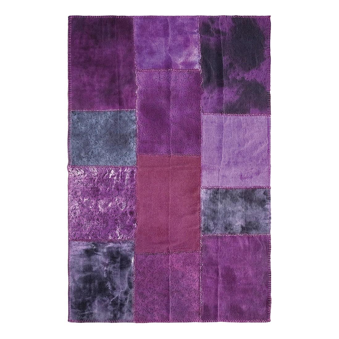Teppich Patchwork Velvet Purple – Violett, Kare Design günstig kaufen