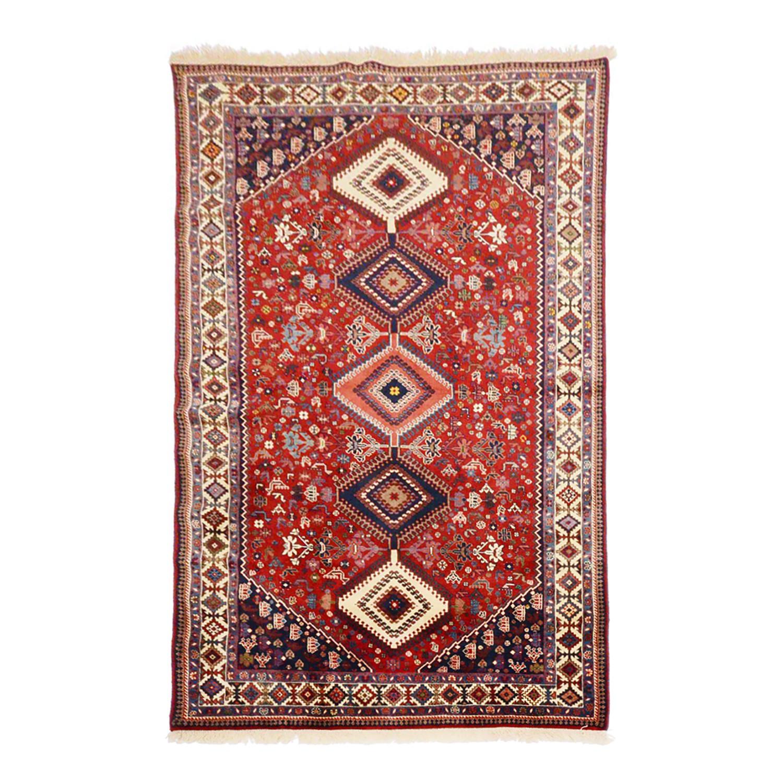 Teppich Persischer Yalameh Felder - Rot - 150 x 200 cm, Parwis