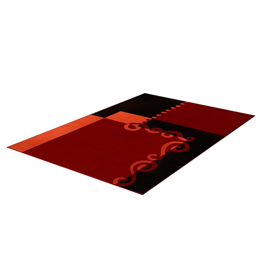 Teppich Prime Pile Modern Cube – Rot/Schwarz/Orange – 60 x 110 cm, Hanse Home Collection online bestellen