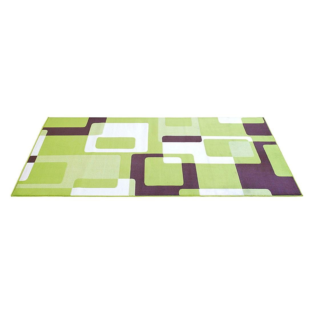 teppich retro200x290cm gr n braun wohnzimmer teppiche ebay. Black Bedroom Furniture Sets. Home Design Ideas