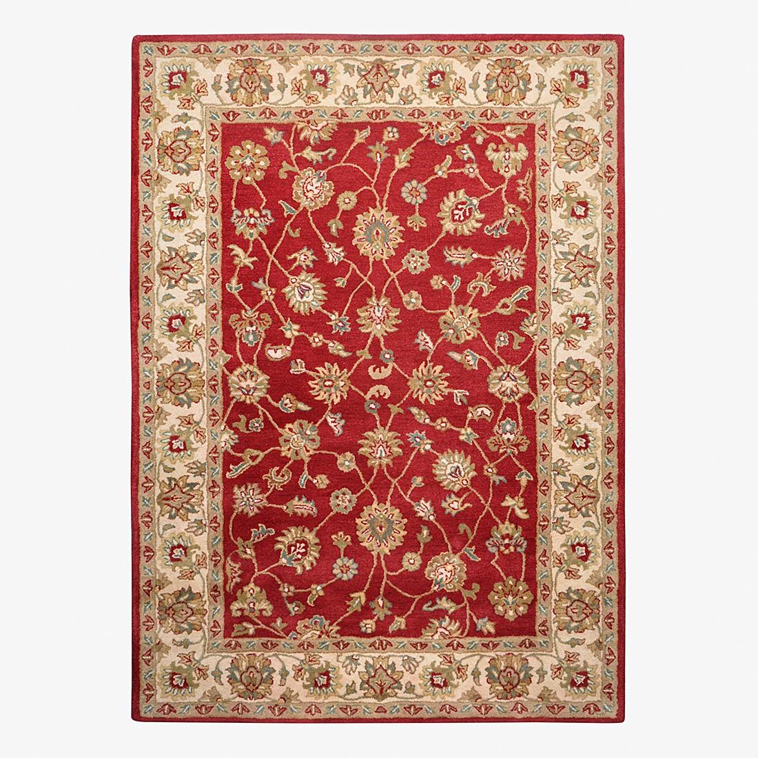 Teppich Royal Ziegler – Wolle/Rot – 60 cm x 90 cm, THEKO die markenteppiche bestellen