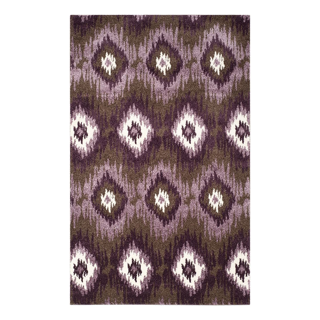 Teppich Sandra – Dunkelbraun/Mehrfarbig – 122 x 183 cm, Safavieh günstig kaufen