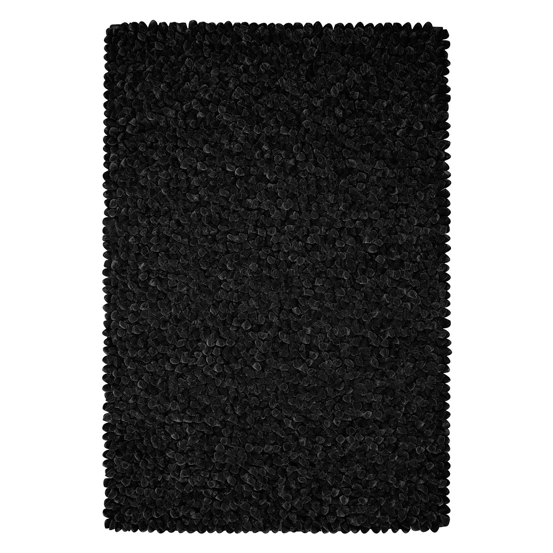 Teppich Sethos - Kunstfaser - Schwarz - 200 x 300 cm, Morteens