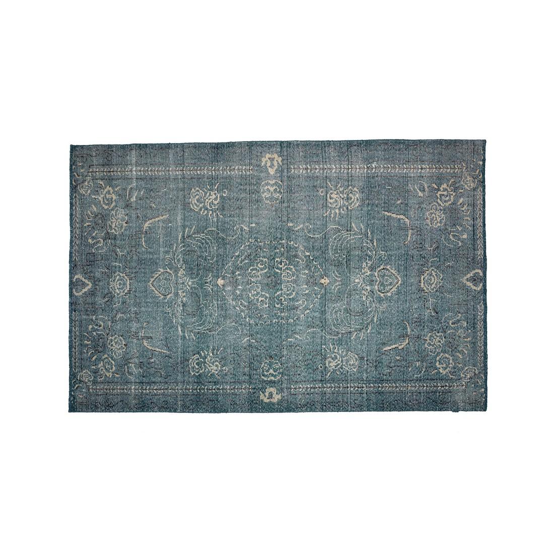Teppich Shekar - Wolle - Petrol - 400 x 300, ikarus