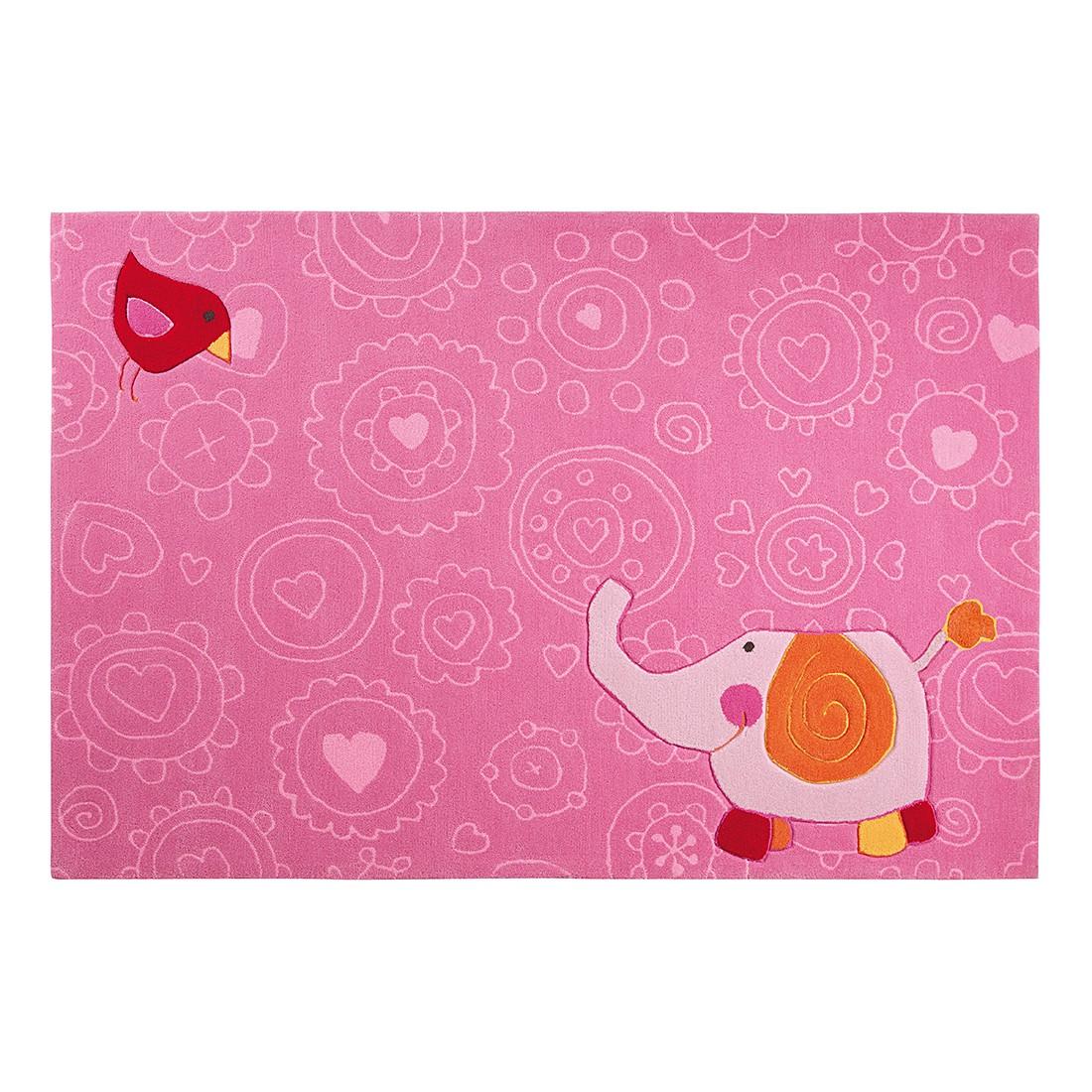 Teppich Sigikid Happy Zoo Elephant Big Size - Pink - 170 x 240 cm, Sigikid