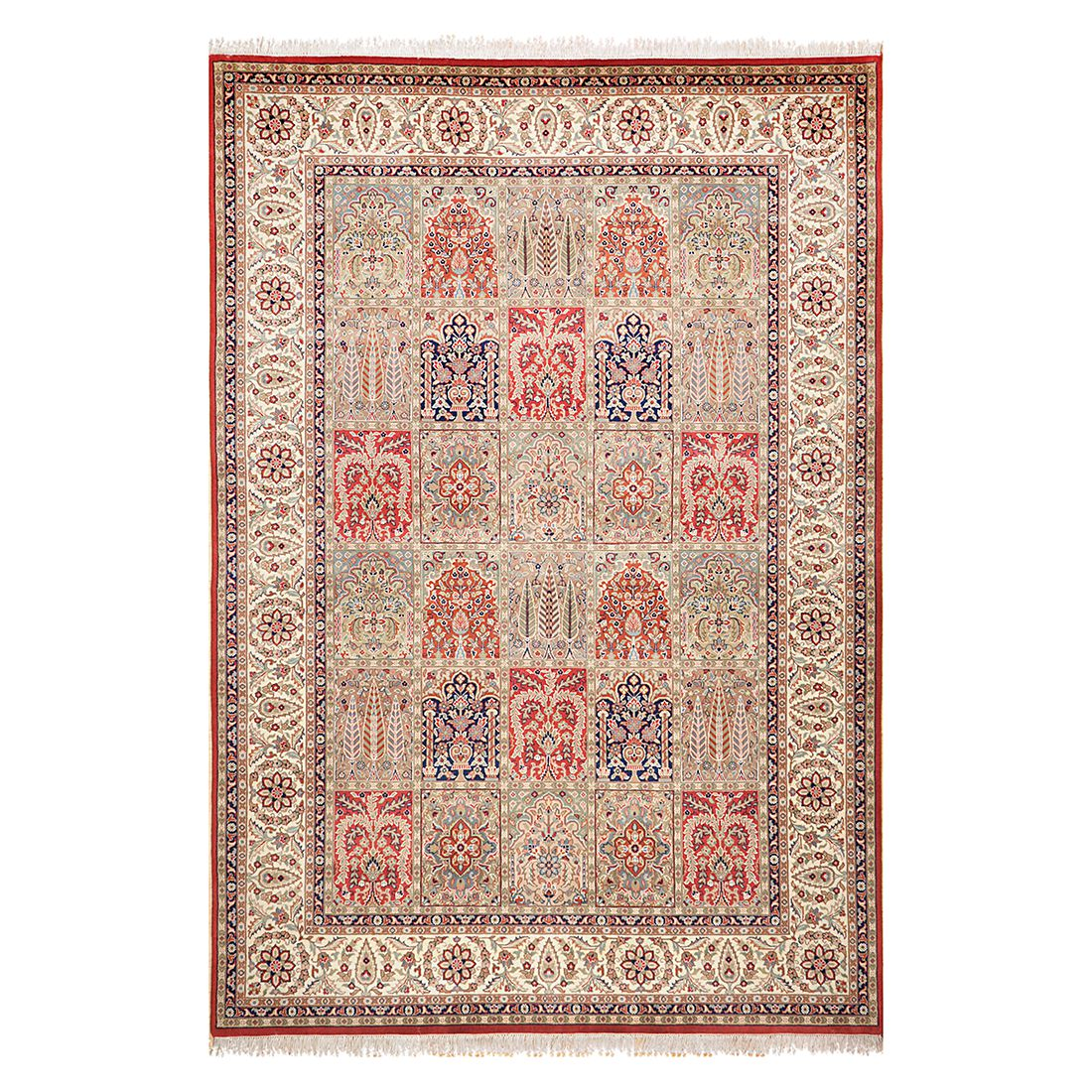 Teppich Sirsa Silk touch – Seide/Rot – 170 cm x 240 cm, THEKO die markenteppiche günstig bestellen