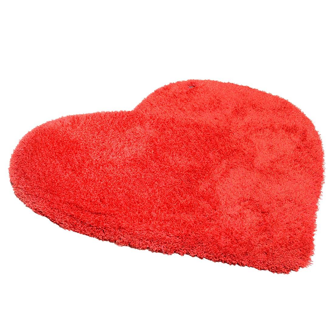 Teppich Soft Heart – Rot – Maße: 100 x 100 cm, Tom Tailor bestellen