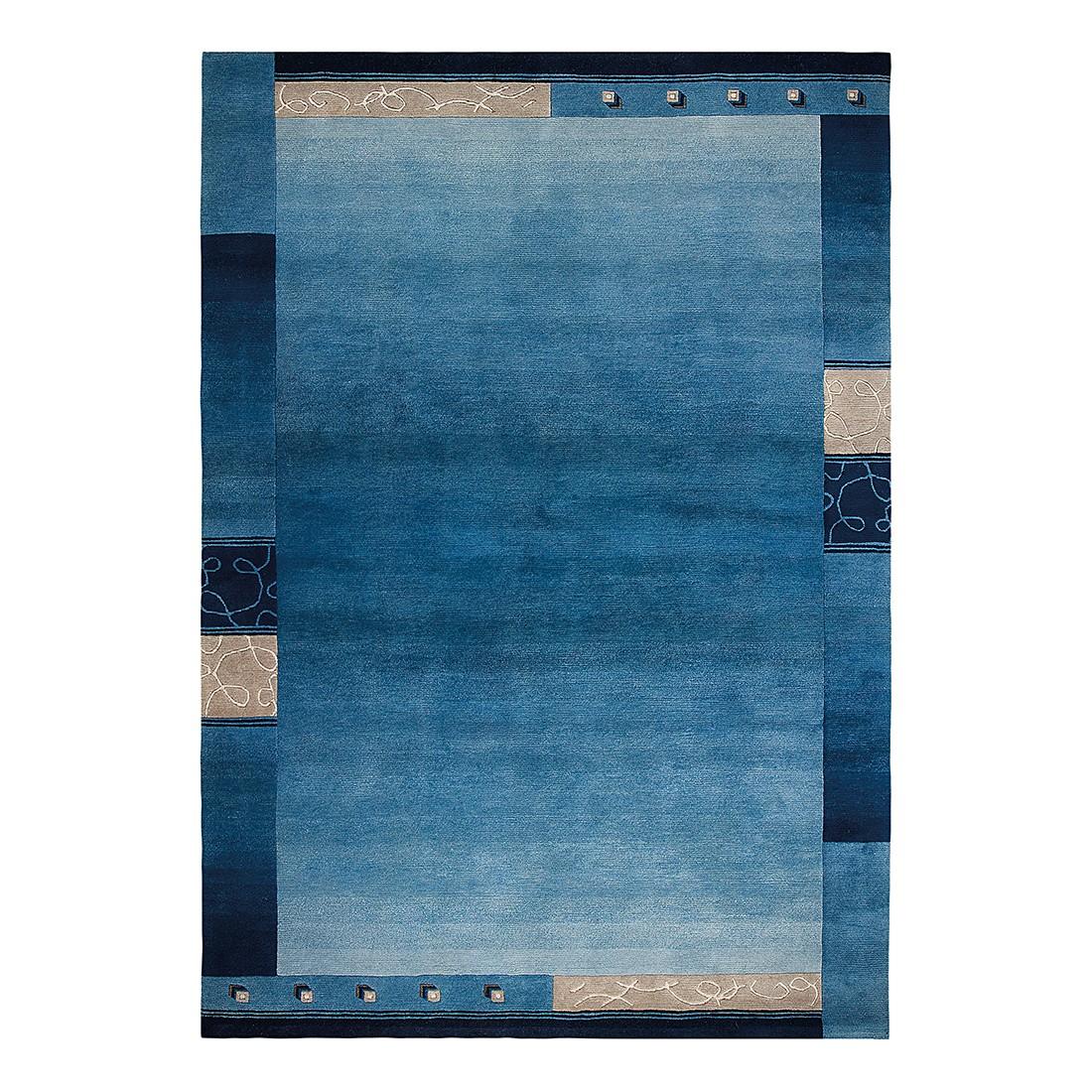 Teppich Super Q - Wolle/ Blau - 170 cm x 240 cm, Luxor living