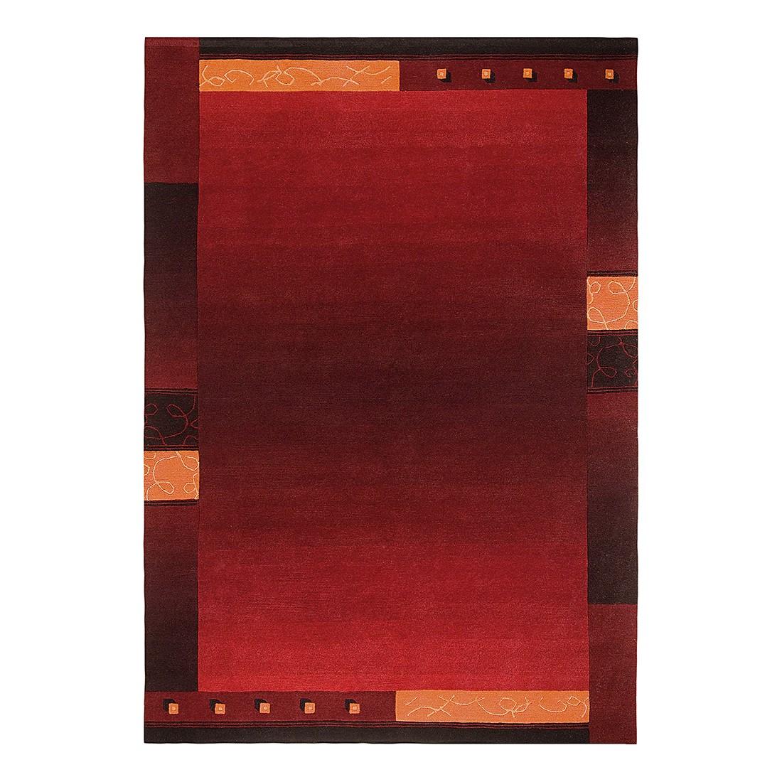 Teppich Super Q - Wolle/ Rot - 170 cm x 240 cm, Luxor living