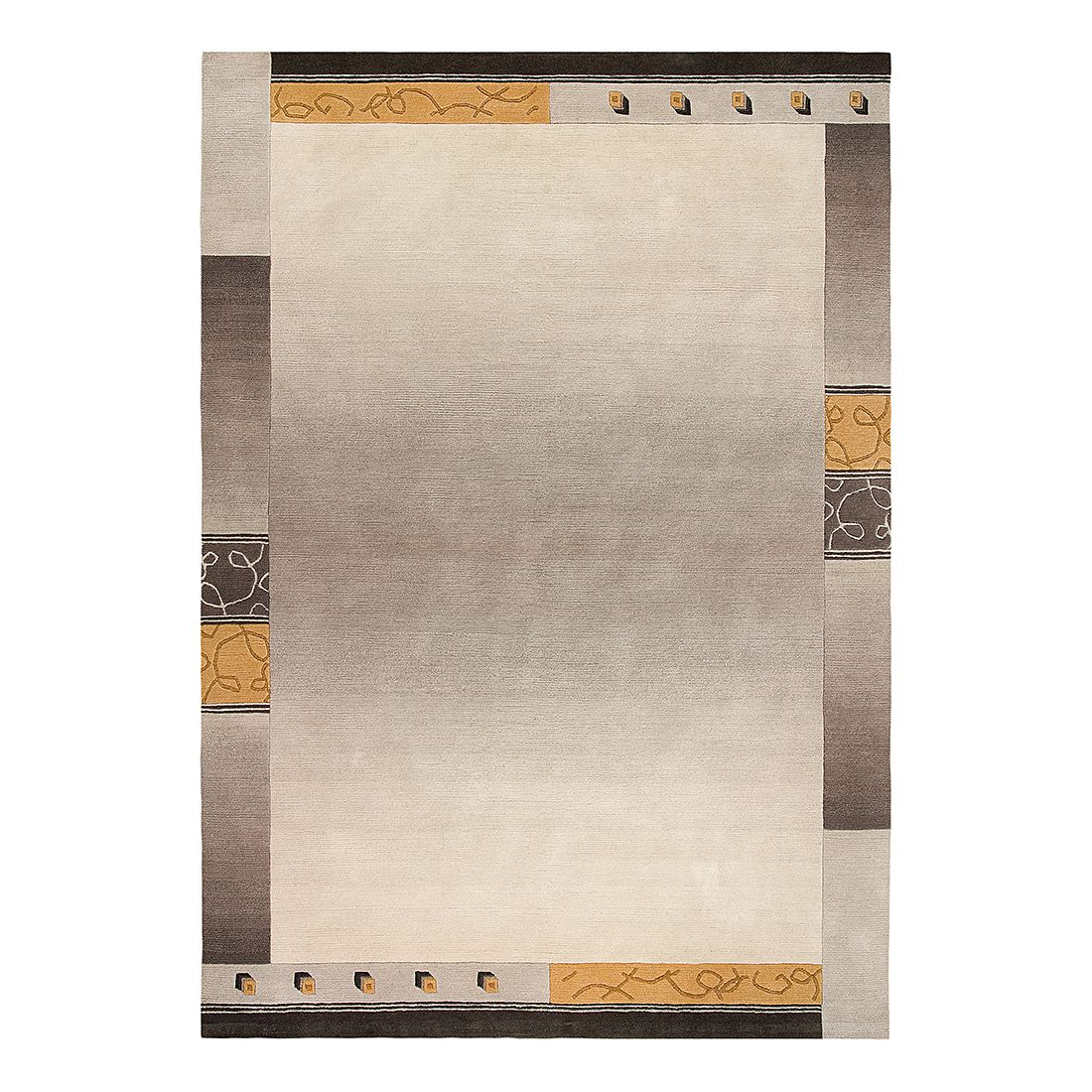 Teppich Super Q - Wolle/ Taupe - 170 cm x 240 cm, Luxor living