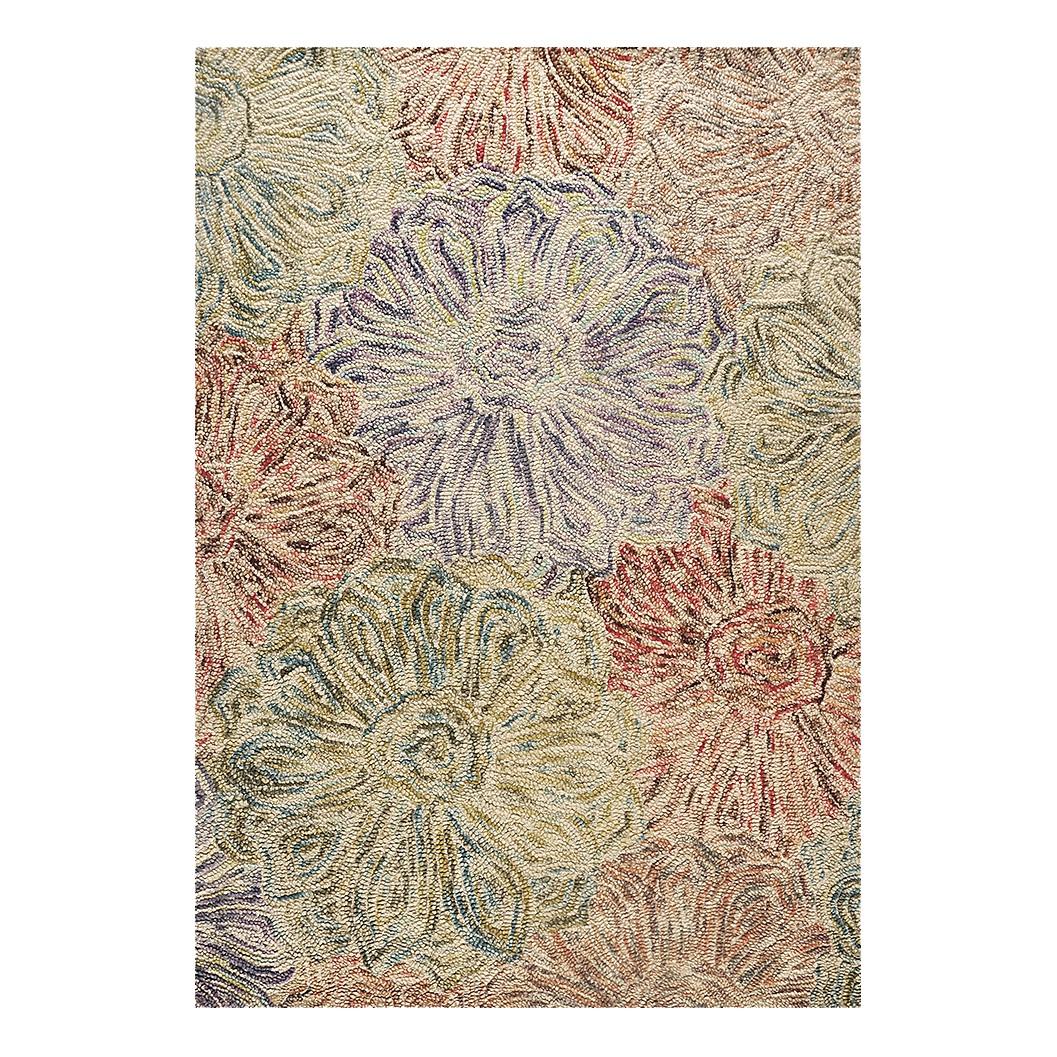 Teppich Wool Design – Wolle/Grün – 160 cm x 230 cm, THEKO die markenteppiche günstig online kaufen