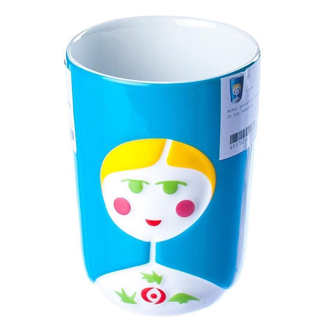 Thermobecher 3D-Tasse Babuschka – Porzellan – Blau, Qdo günstig bestellen