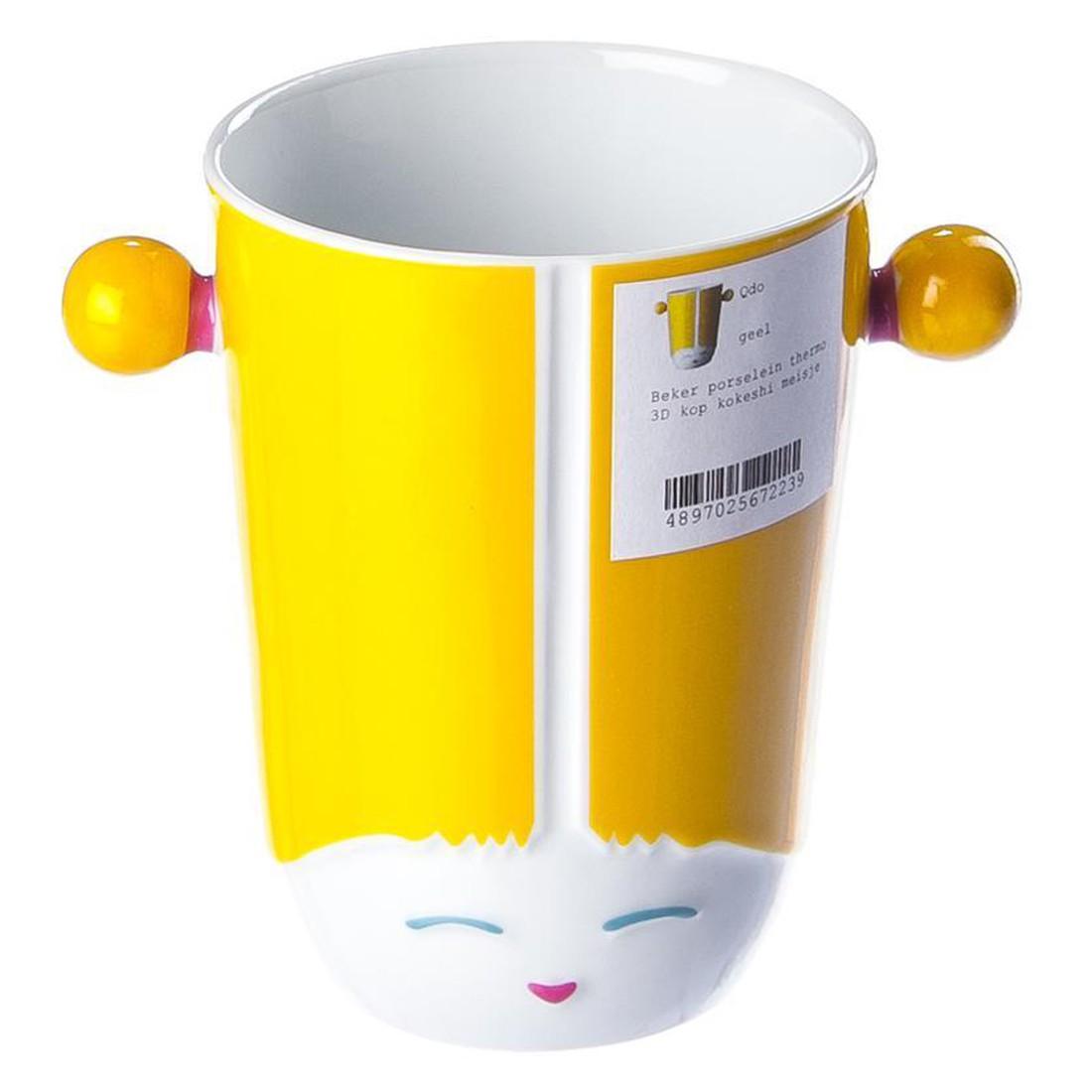 Thermobecher 3D-Tasse Kokeshi Girl – Porzellan – Gelb, Qdo kaufen