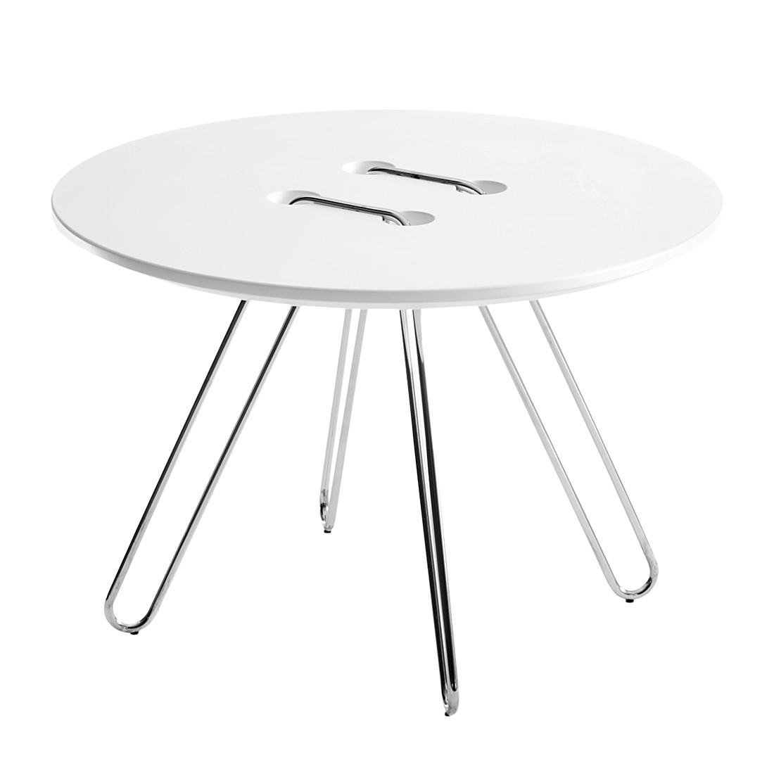 Tisch Twine Table Medium – Weiß/Chrome, Casamania günstig online kaufen