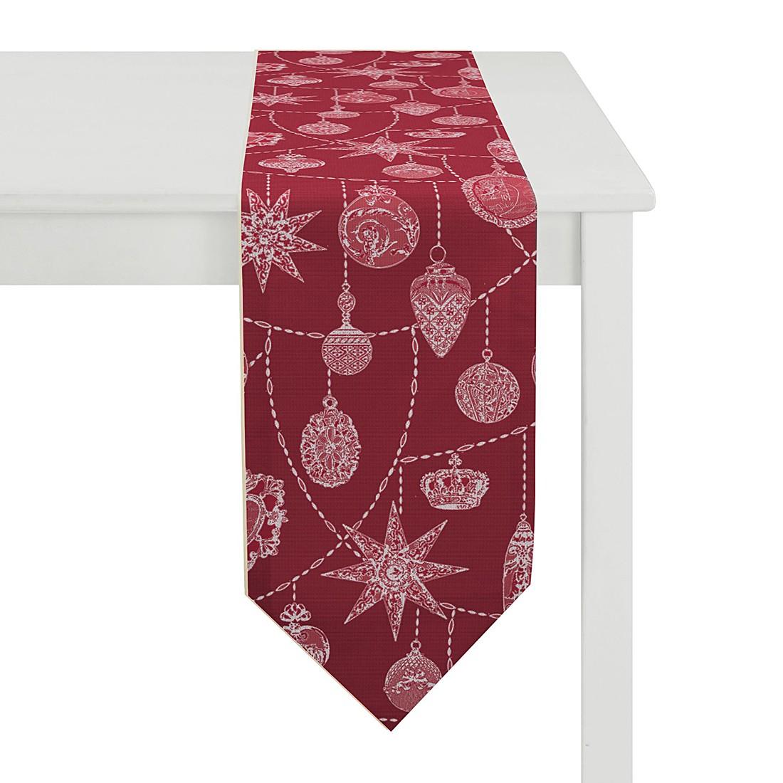 Tischband Christmas Elegance II – Rot, Apelt günstig bestellen