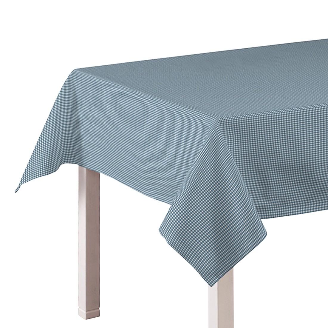 Tischdecke Amelie – Türkis / Weiß – 130 x 130 cm, Dekoria günstig kaufen