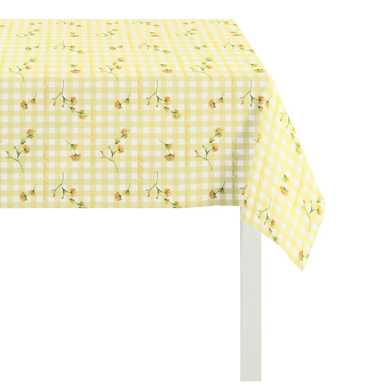 nappe happy easter iii jaune 130 x 130 cm. Black Bedroom Furniture Sets. Home Design Ideas