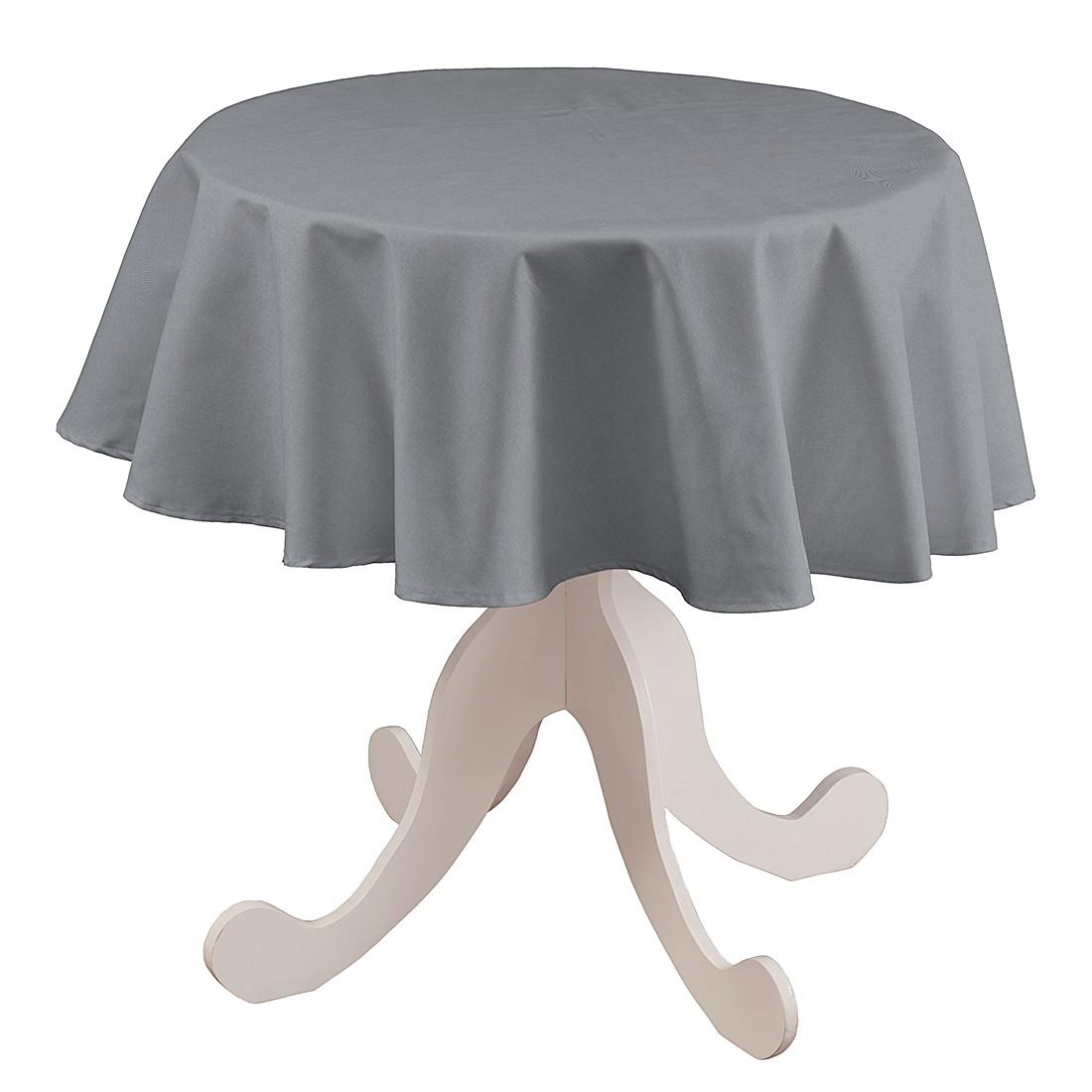 Tischdecke Atago Rund – Grau – Ø 135 cm, Dekoria online kaufen