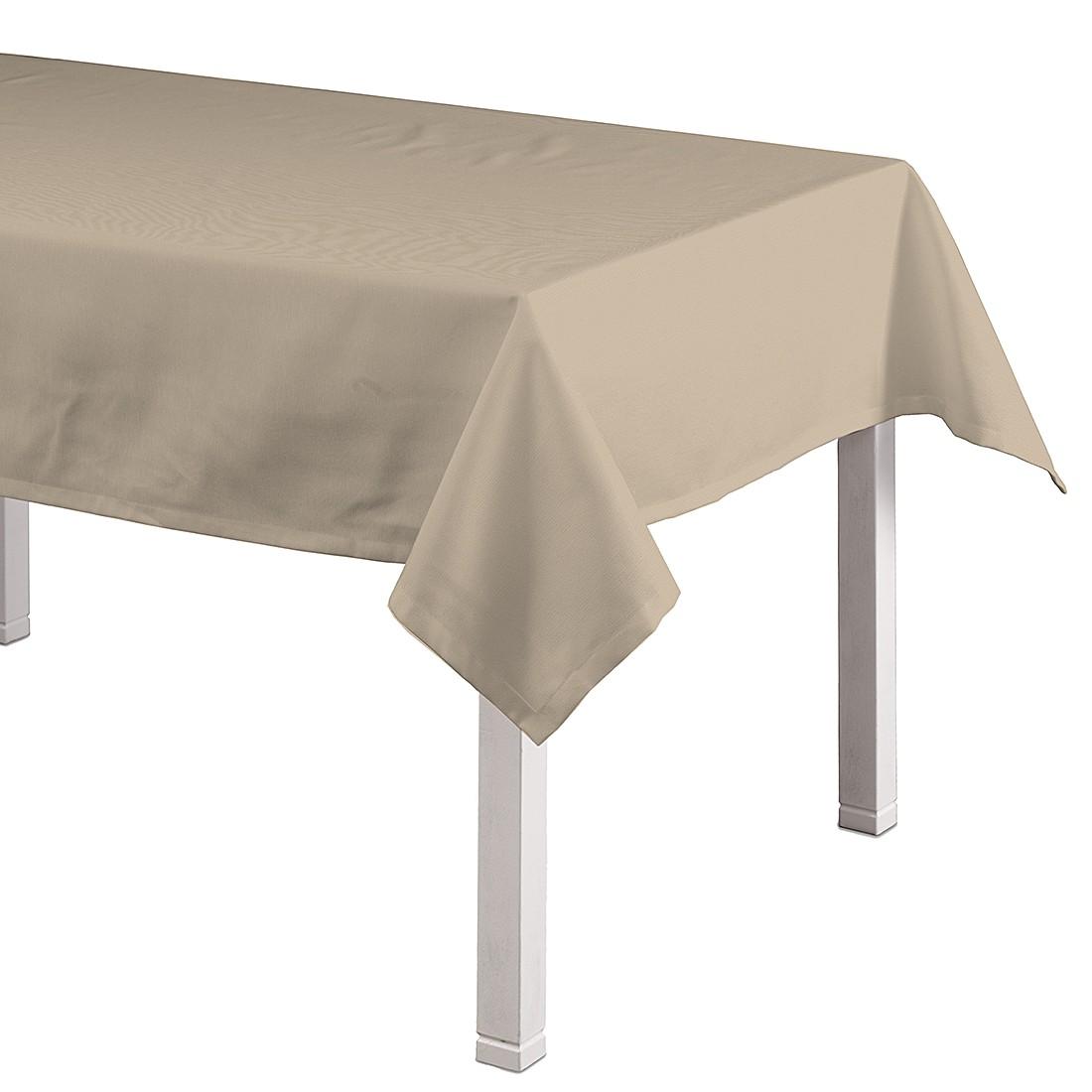 Tischdecke Cotton Panama – Braun – 130 x 280 cm, Dekoria online bestellen
