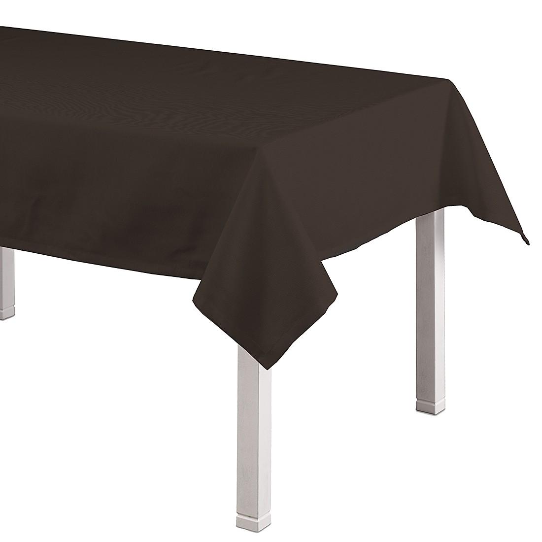 Tischdecke Cotton Panama – Dunkelbraun – 130 x 280 cm, Dekoria online kaufen
