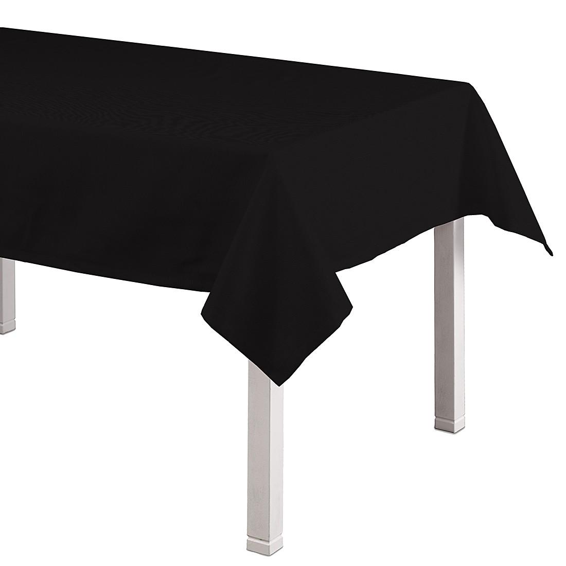 Tischdecke Cotton Panama – Schwarz – 130 x 250 cm, Dekoria günstig online kaufen