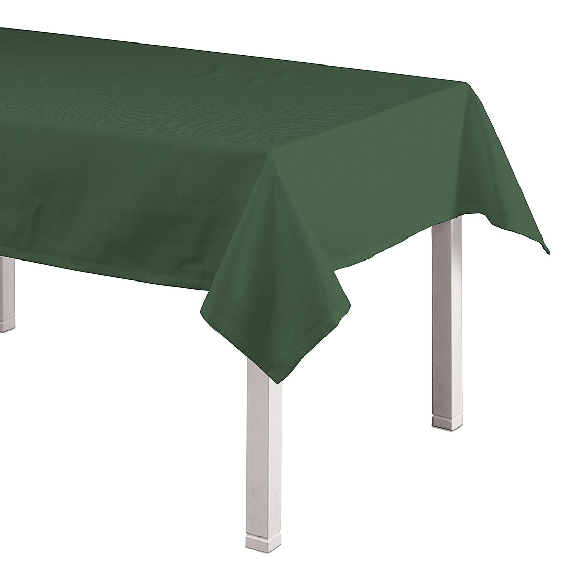 Tischdecke Cotton Panama – Tannengrün – 130 x 130 cm, Dekoria günstig