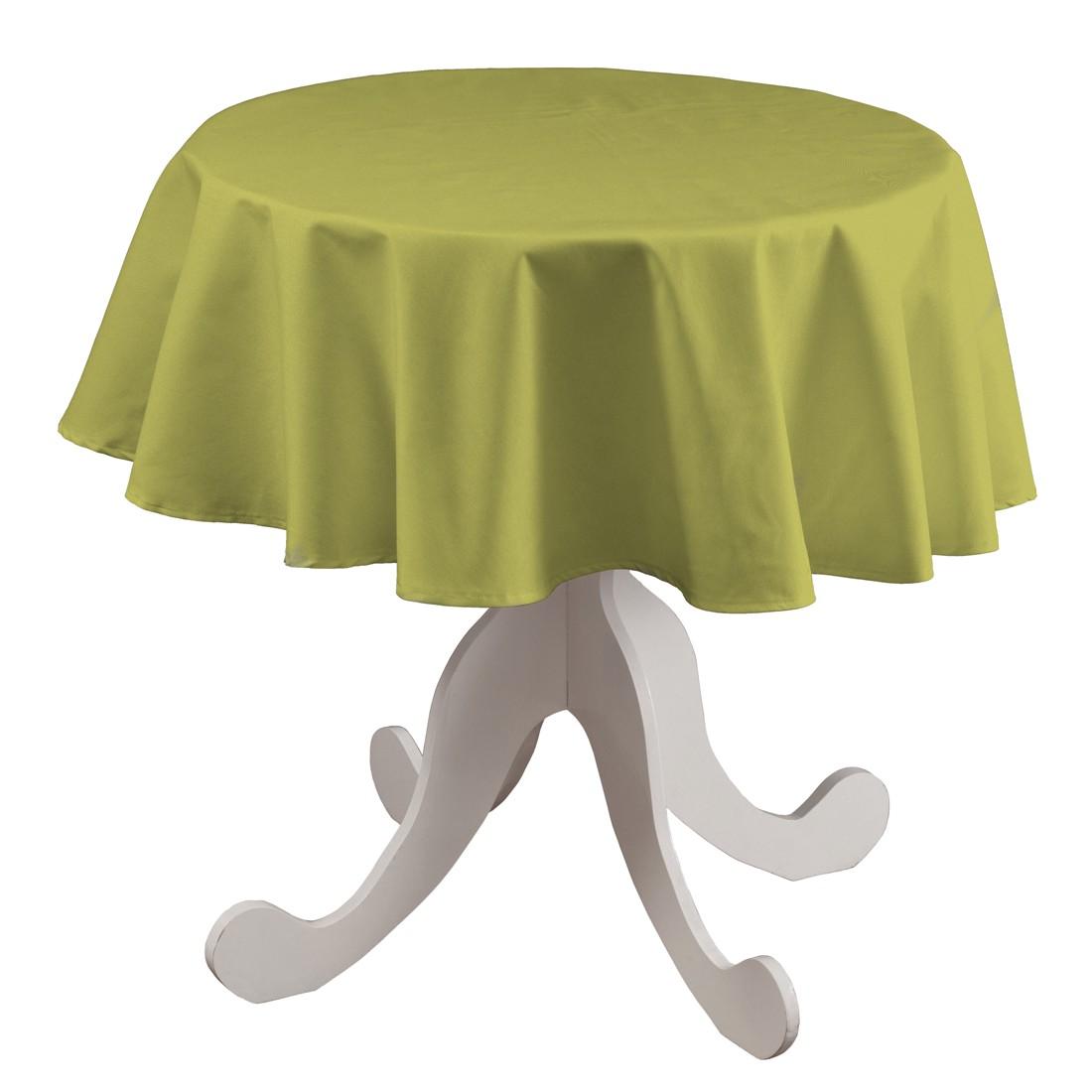 Tischdecke Loneta Rund – Olivgrün, Dekoria online bestellen
