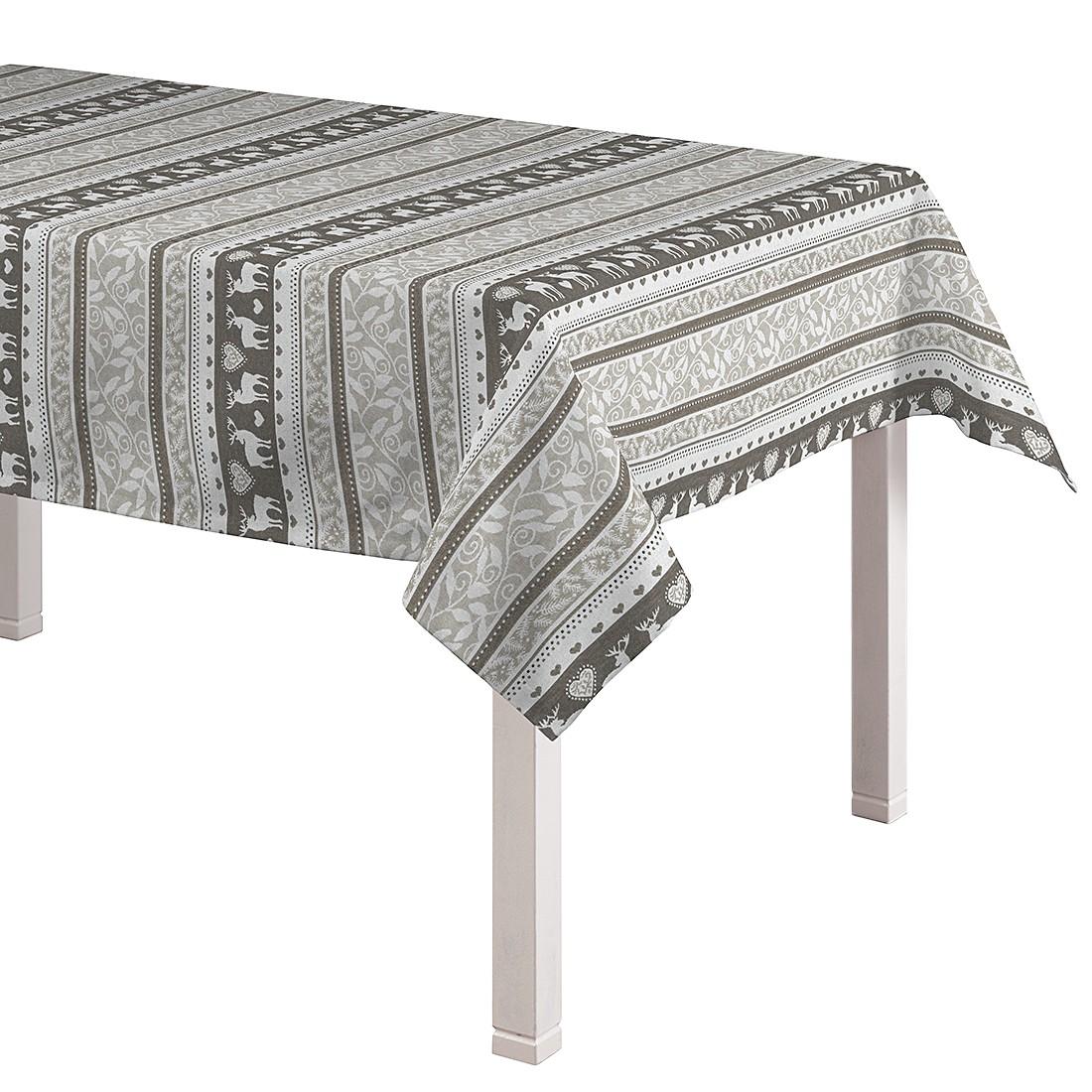 Tischdecke Rentiere – Grau / Grün – 130 x 250 cm, Dekoria online bestellen
