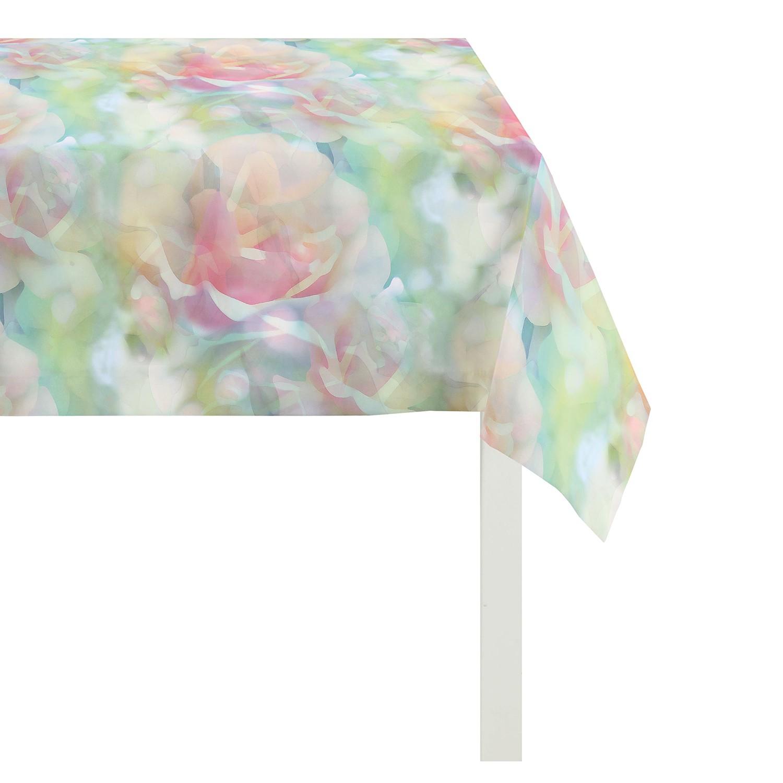 Tischdecke Springtime III - Grün / Pink - 130 x 130 cm, Apelt