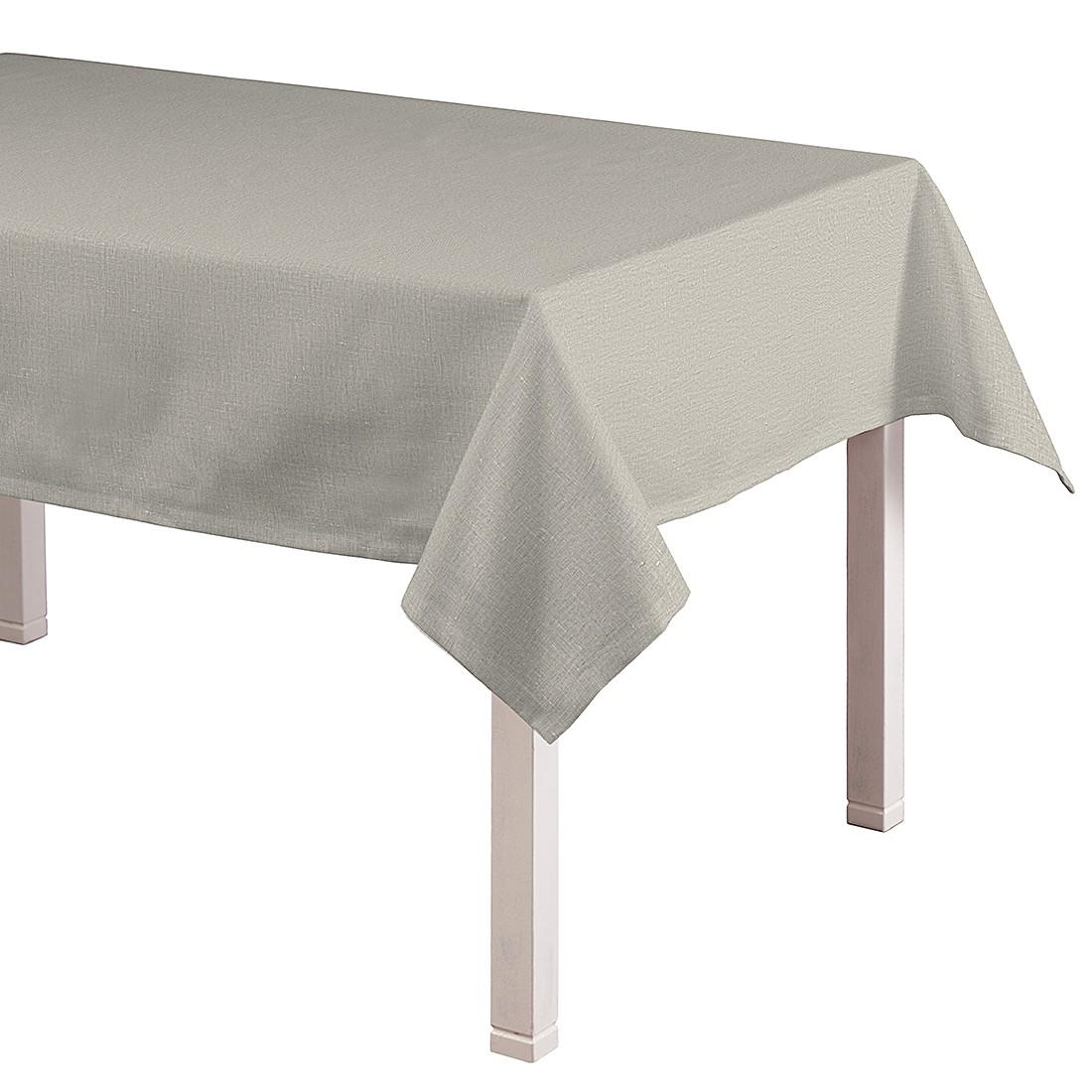 Tischdecke Linen – Beige – 130 x 130 cm, Dekoria jetzt kaufen