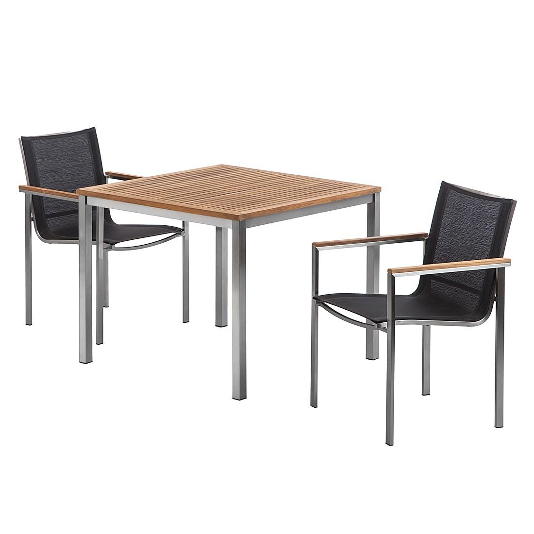 Tischgruppe Teak Line Vari I (3-teilig) – Teakholz/Edelstahl, King's Garden jetzt kaufen