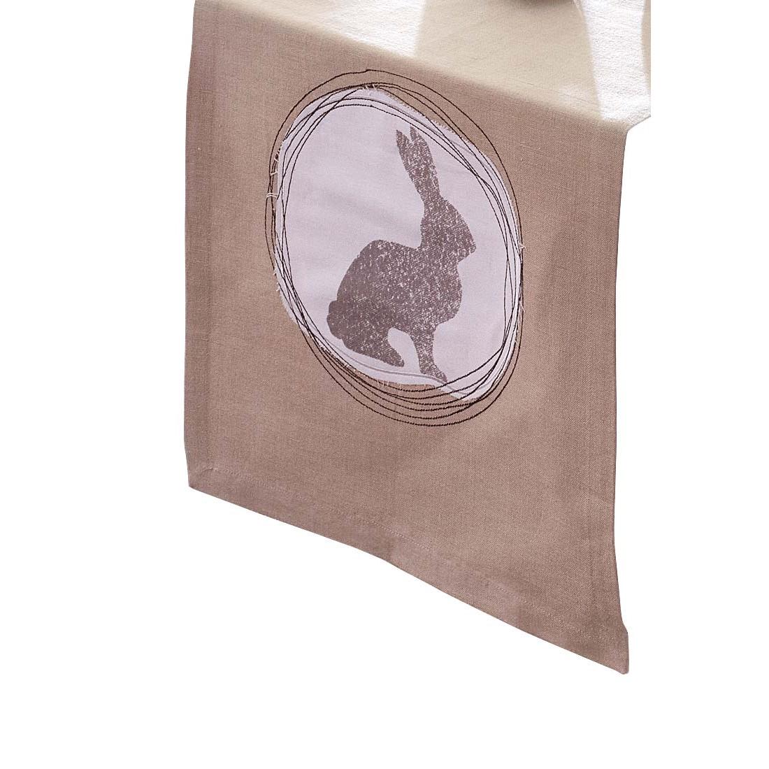 Tischläufer 45×250 – Baumwolle/Leinen – Beige, PureDay jetzt kaufen