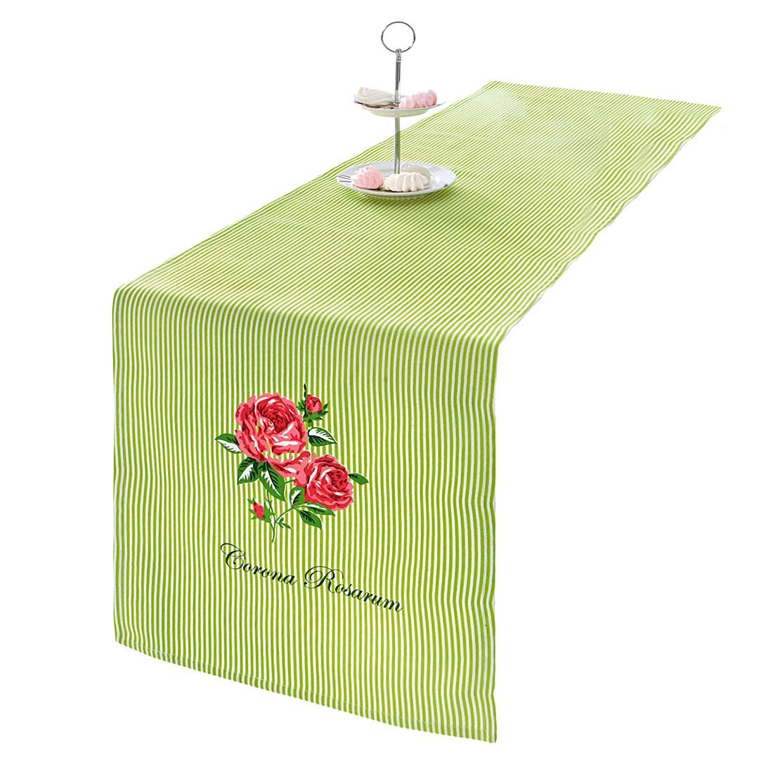 Tischläufer Corona – Baumwolle – Grün/Gestreift, PureDay bestellen