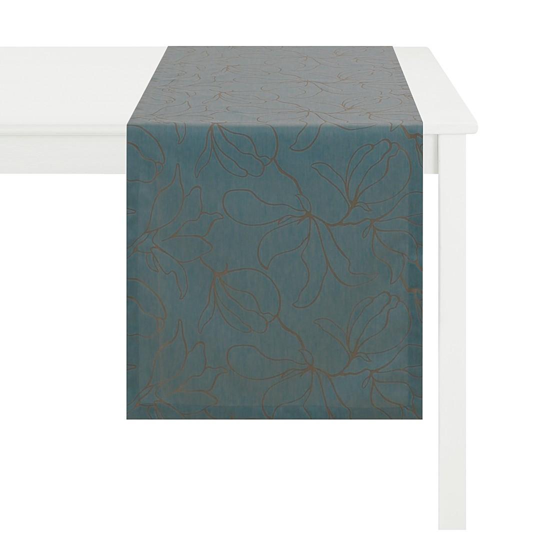 Tischläufer Magnolia – Petrol, Apelt günstig online kaufen