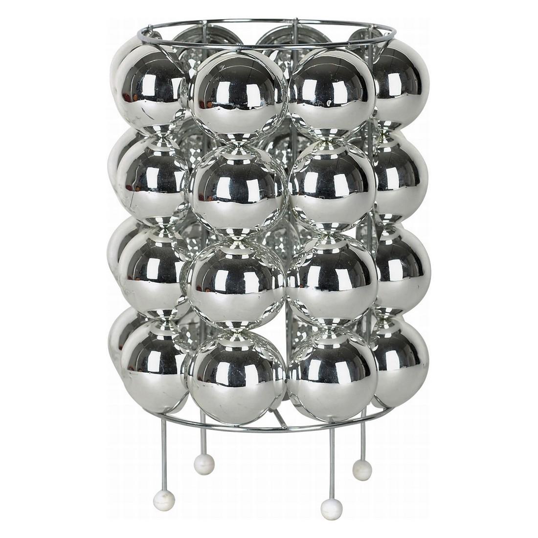 Tischlampe Bulb Bubbles Chrom – Eisen verchromt – ABS-Kunststoff – 1x E14 – max. 40W – 230V – 50/60Hz Grau, Kare Design günstig