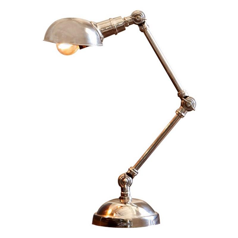 Tischlampe Toulon – Massives Messing mit Antiksilber-Finish antiksilber, Loberon jetzt kaufen