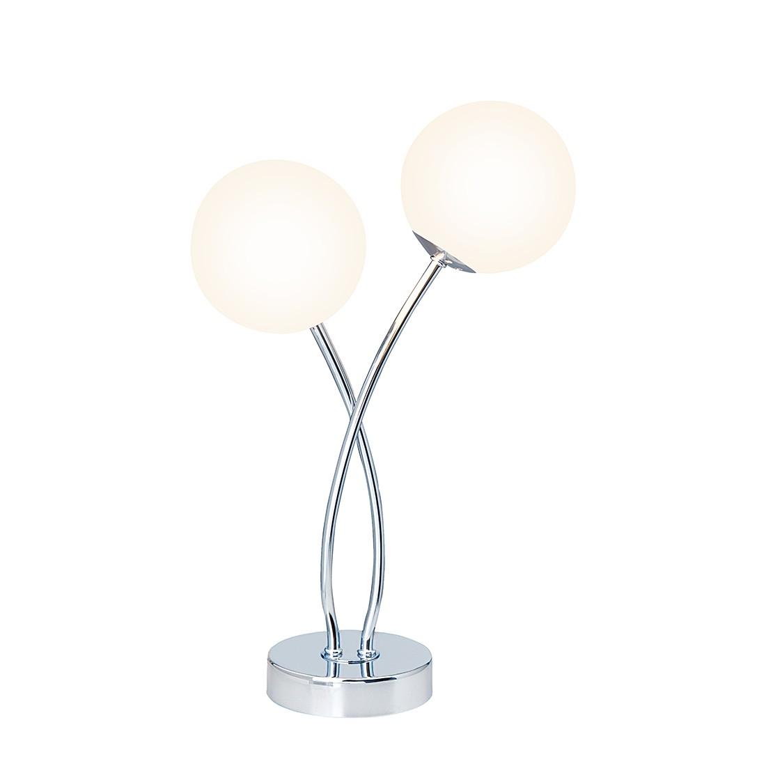 Tisch- & Standleuchten Sally ● Metall/Glas ● Silber ● 2-flammig- Brilliant A++