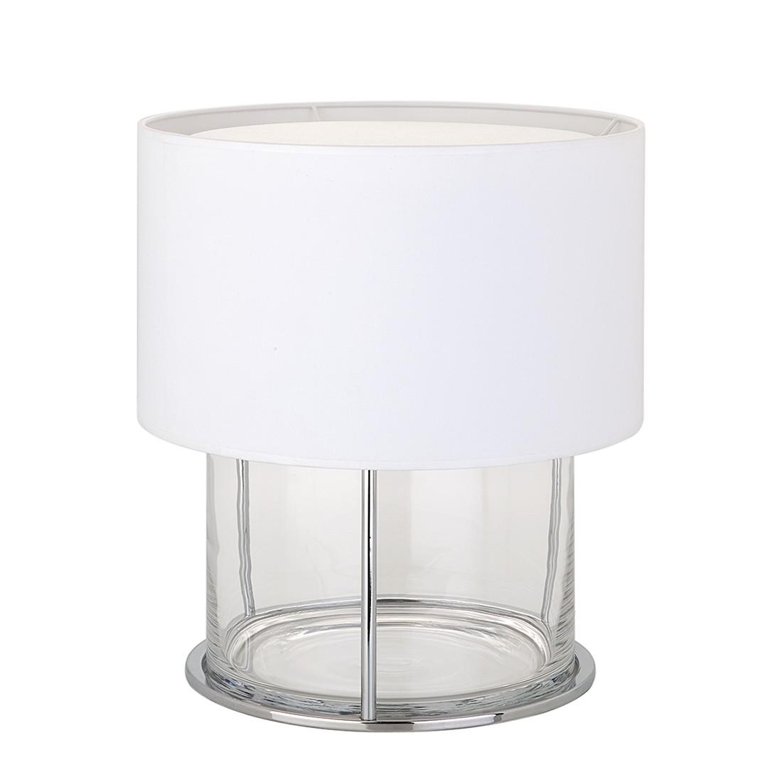 Tischleuchte Boston Zylinder ● Silber/Weiß ● 1-flammig- Villeroy und Boch A++