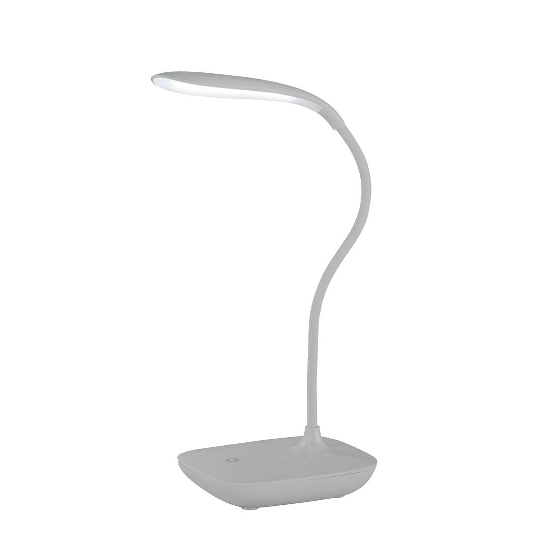 EEK A+, Tischleuchte COLLO – Metall – Silber – 1-flammig, Action online kaufen