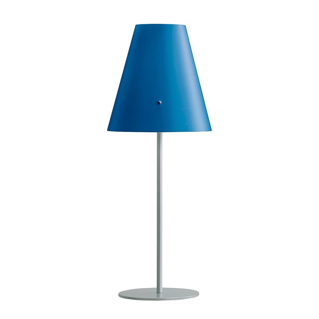 Tischleuchte Cosy ● Metall / Kunststoff ● Silbergrau / Blau ● 1-flammig- Blanke Design A