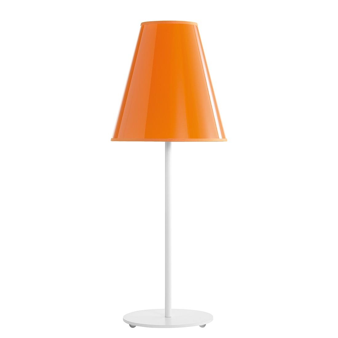Tischleuchte Cosy ● Metall / Kunststoff ● Weiß / Orange ● 1-flammig- Blanke Design C