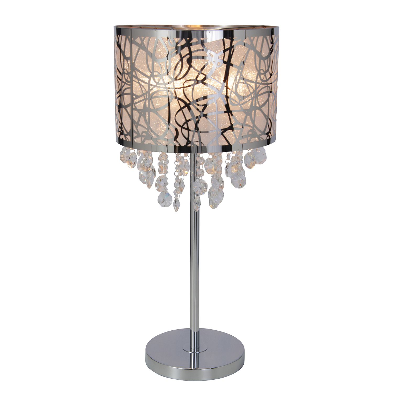 Tischleuchte Crystallo by Näve ● Stahl/Glas ● Silber ● 1-flammig- Näve A++