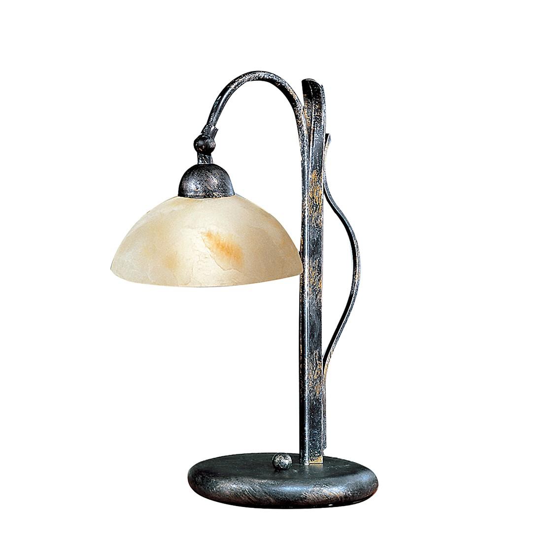 Tischleuchte Maisonry ● Metall/Glas ● Schwarz-Antik ● 1-Flammig- Hans Kögl A+