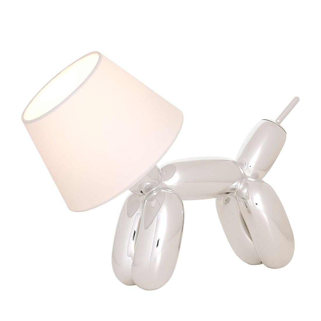 Tischleuchte Doggy ● Silber/Weiß ● 1-flammig- Sompex A++